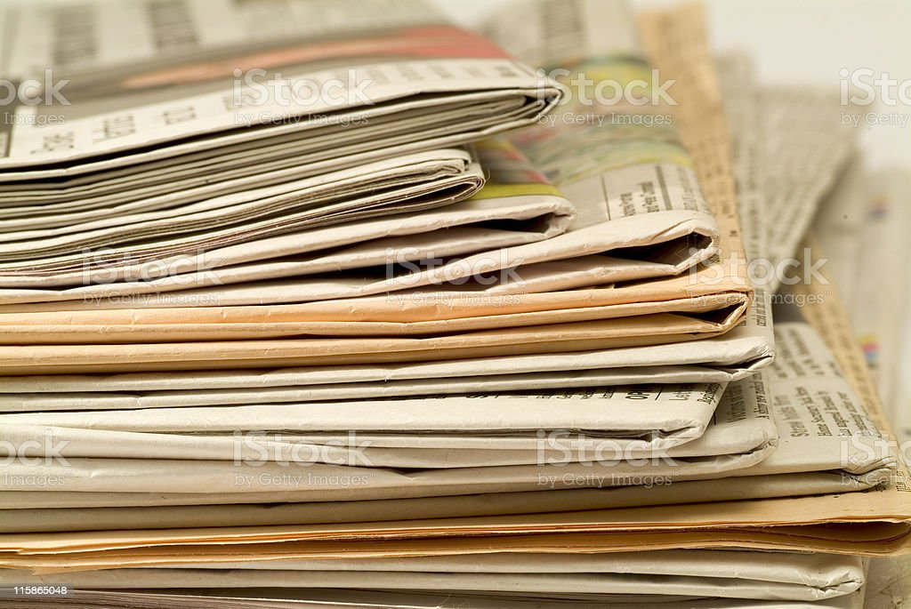 Pile of newspapers 01 royalty-free stock photo