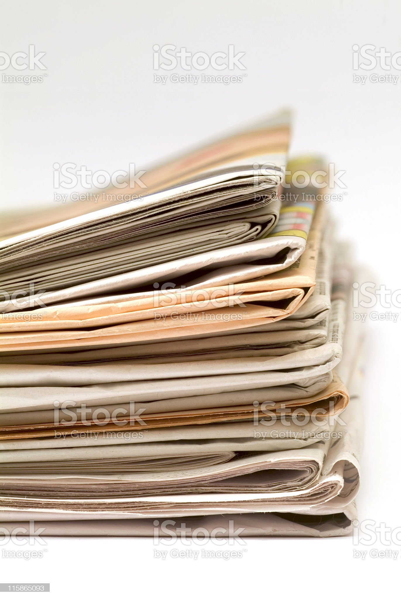 Pile of newspapers 06 royalty-free stock photo