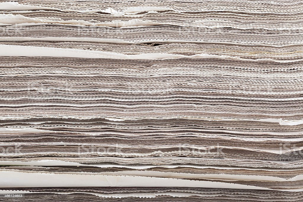 Pile of newspapers as background royalty-free stock photo