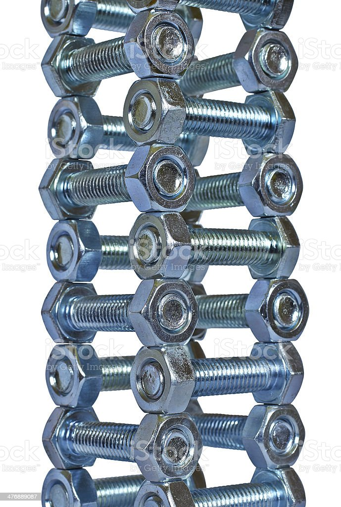 pile of nuts and bolts royalty-free stock photo