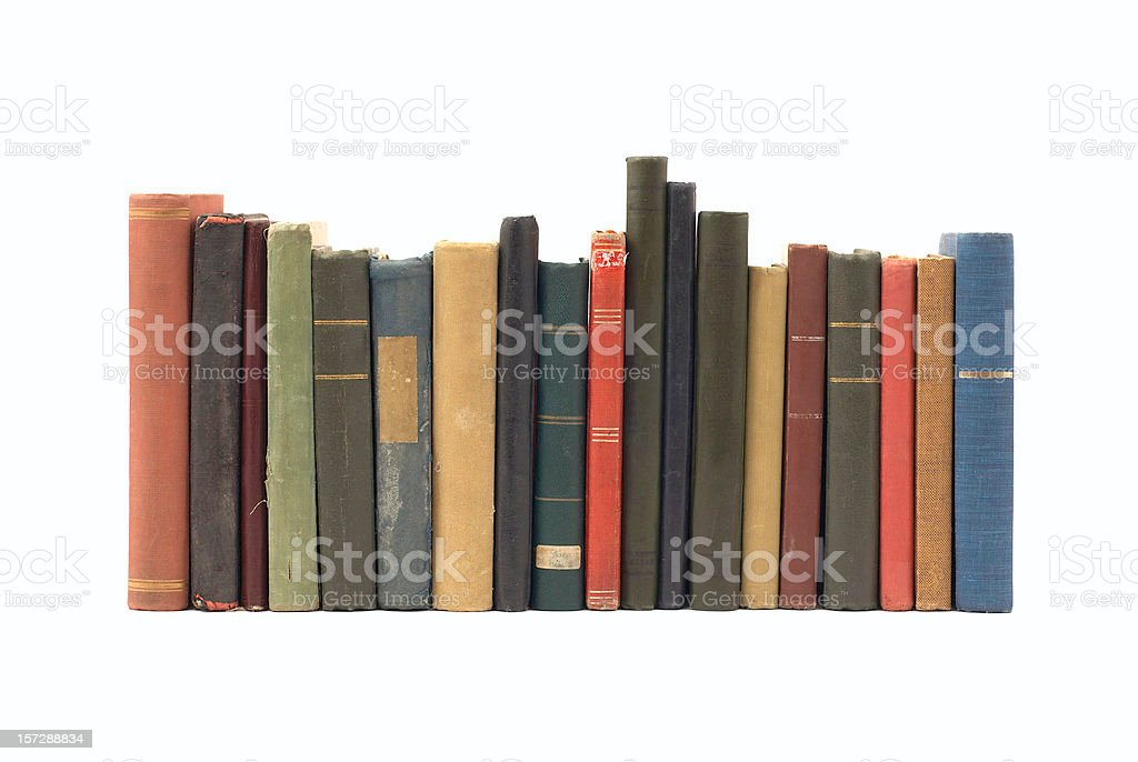 Pile of Old Antique Books royalty-free stock photo
