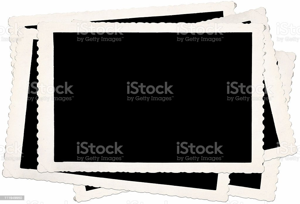 Pile of old photoframes royalty-free stock photo