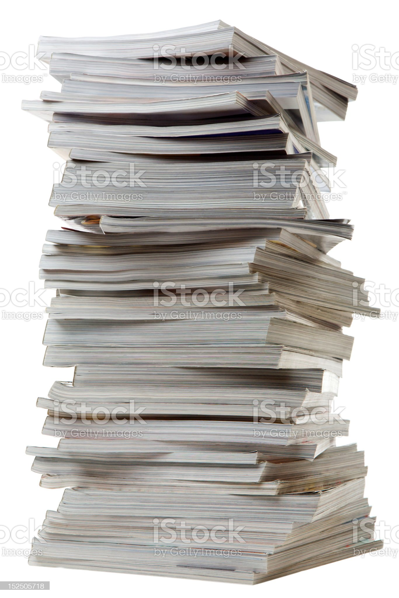 Pile of old thick magazines. royalty-free stock photo
