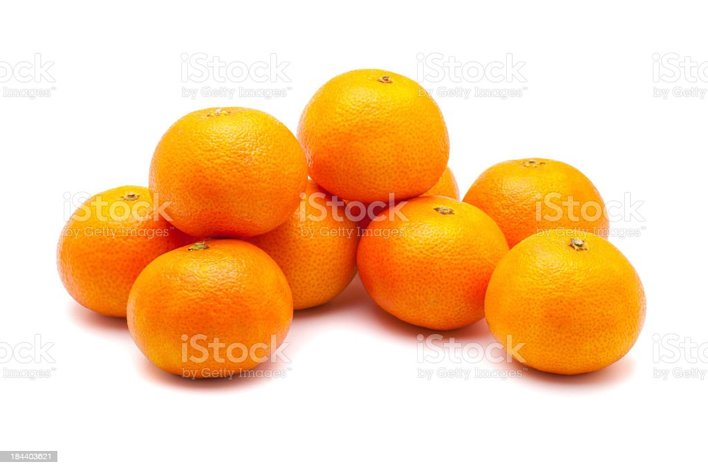 A pile of oranges isolated on a white background royalty-free stock photo