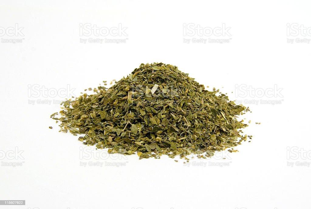 Pile of Oregano Leaves stock photo