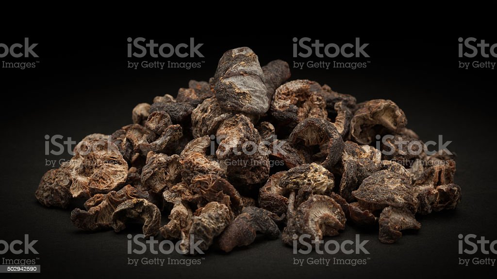 Pile of Organic Dried gooseberry (Ribes grossularia) stock photo