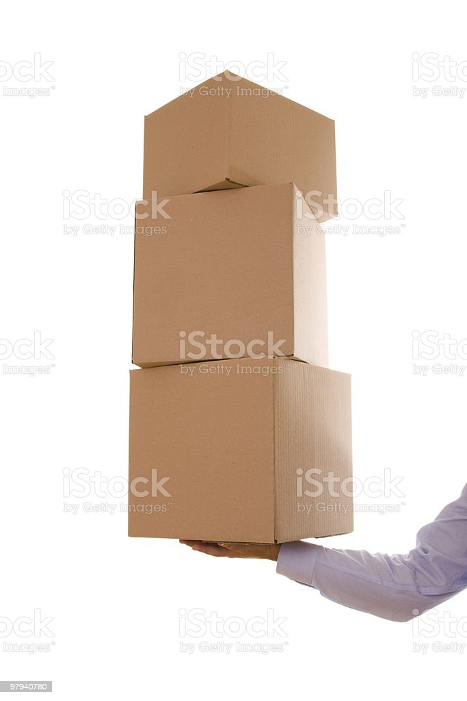 Pile of package parcels royalty-free stock photo