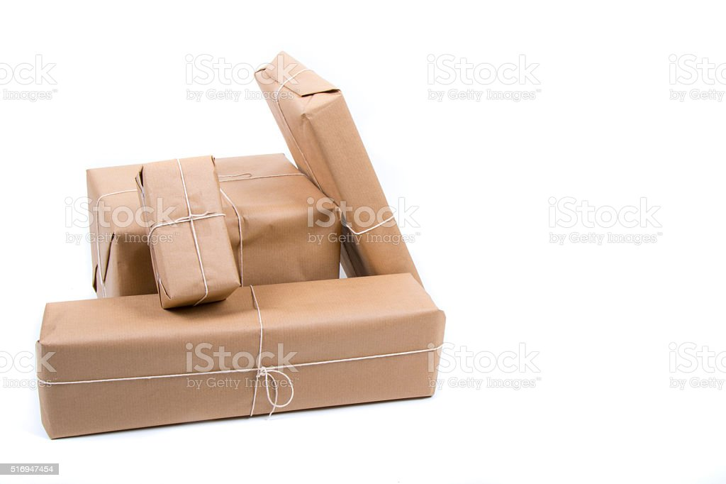 Pile of Packages stock photo