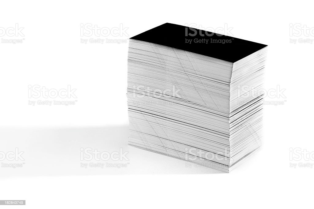 Pile of paper on white background royalty-free stock photo