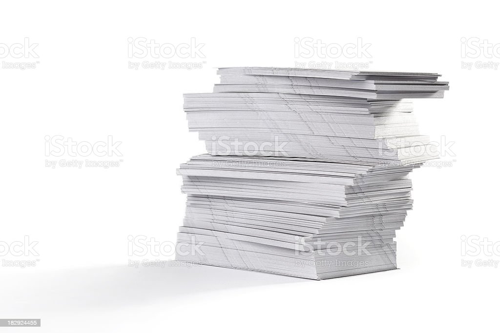 Pile of paper royalty-free stock photo