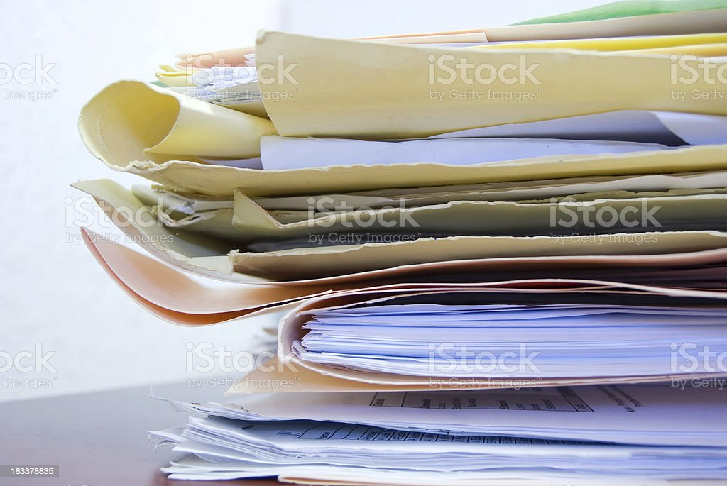 pile of papers royalty-free stock photo