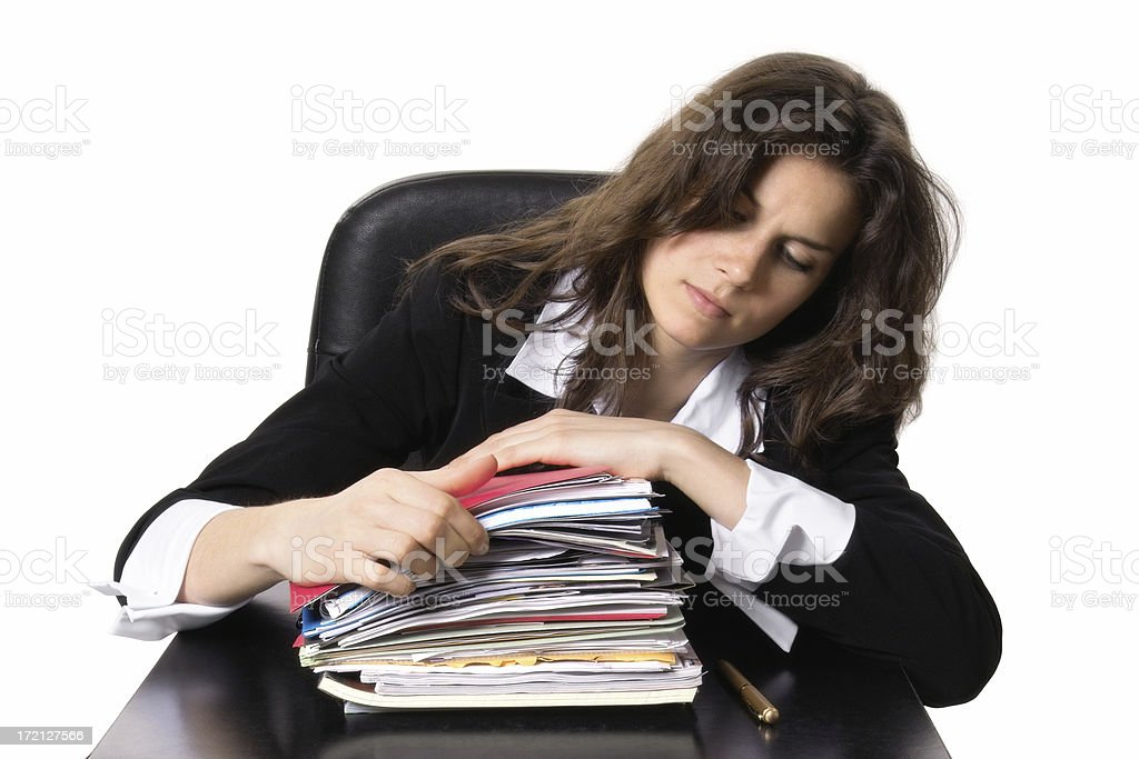 Pile of Paperwork royalty-free stock photo