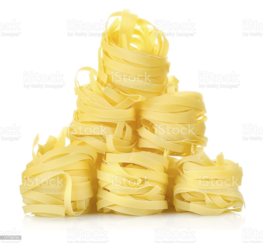 Pile of pasta tagliatelle royalty-free stock photo