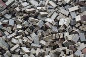 Pile of paving blocks