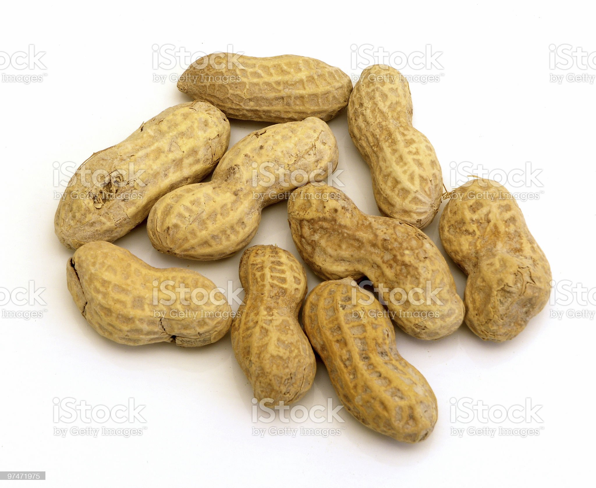 Pile of Peanuts royalty-free stock photo