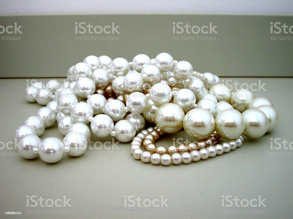Pile of pearls royalty-free stock photo