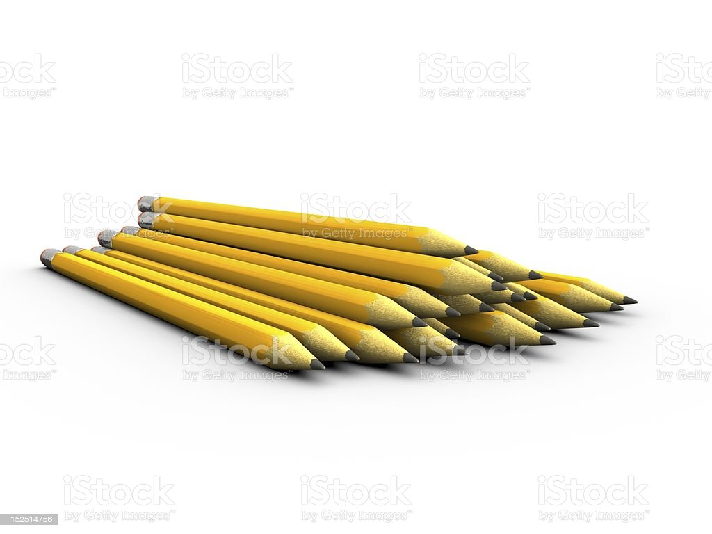 Pile of Pencils stock photo
