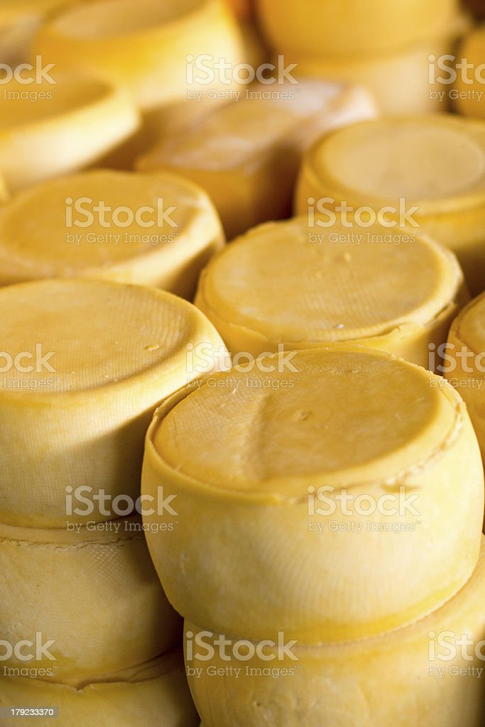 Pile of Peru cheese on the Cusco market royalty-free stock photo
