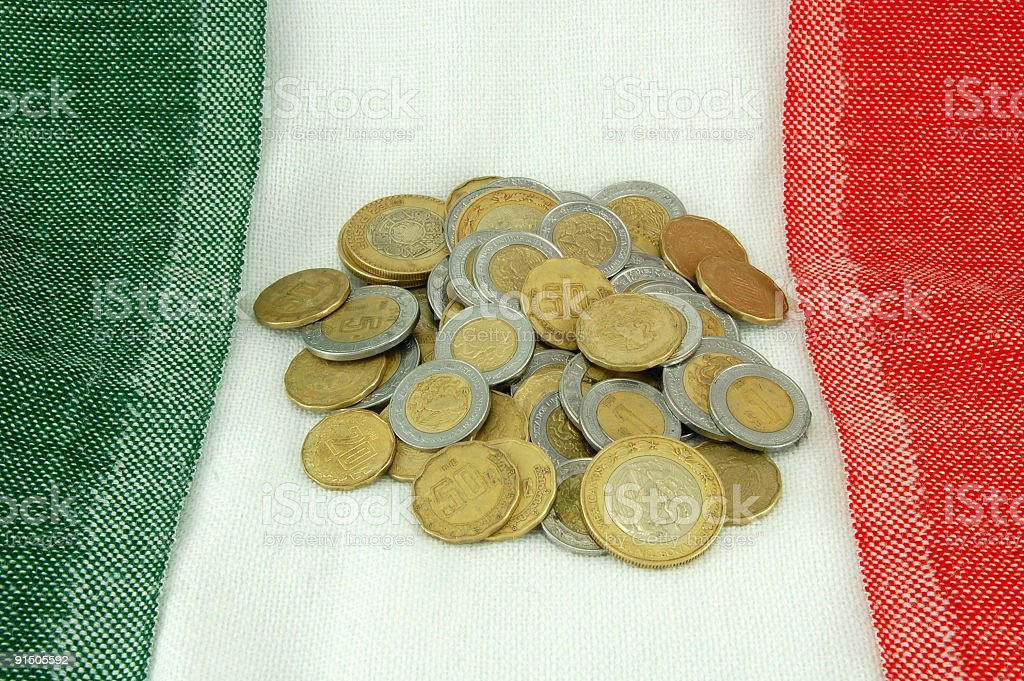 Pile of Pesos stock photo