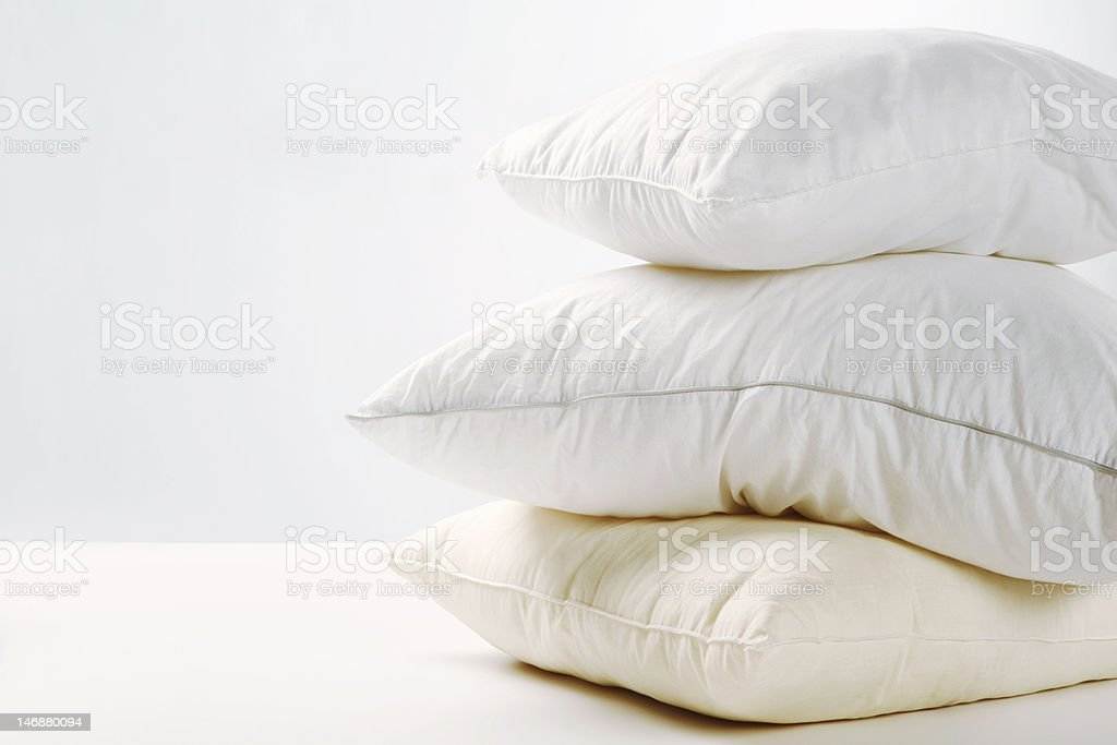 Pile of pillows stock photo