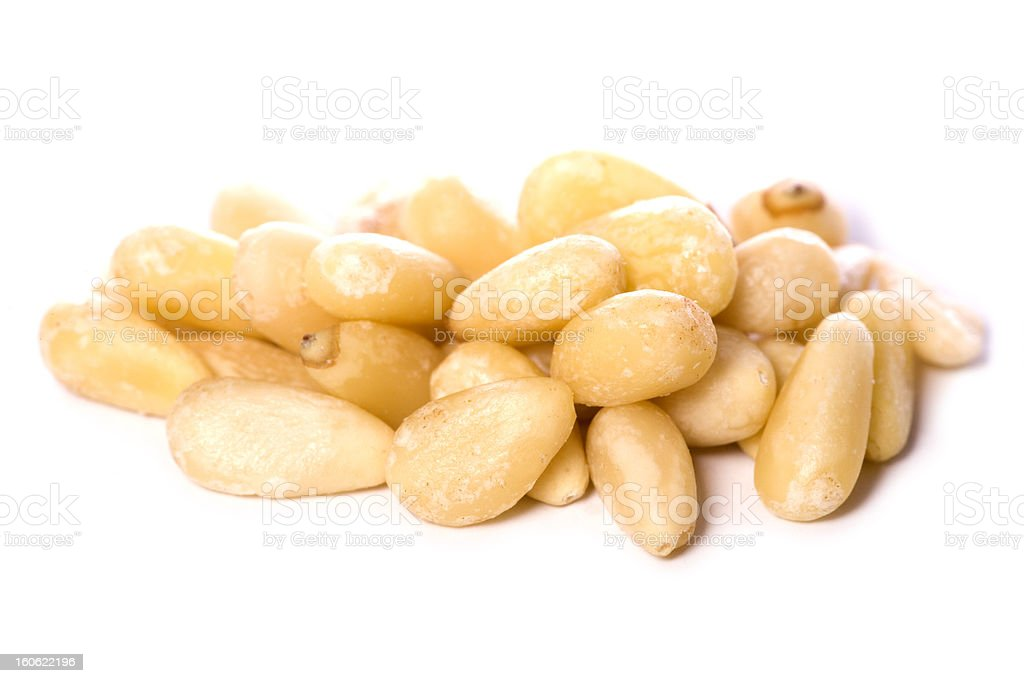 pile of pine nuts cutout royalty-free stock photo