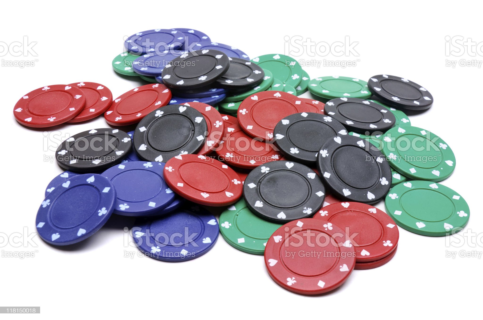 Pile Of Poker Chips royalty-free stock photo