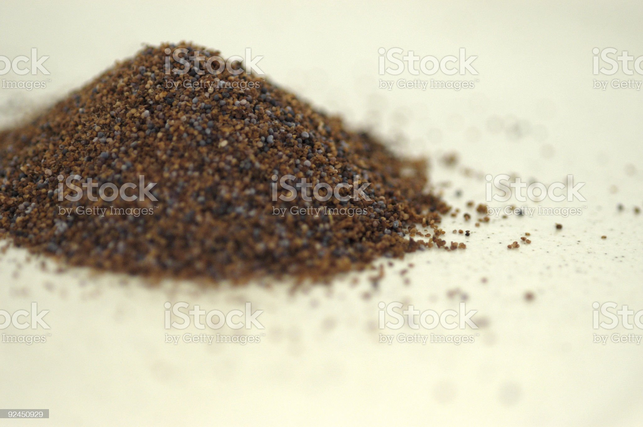 Pile of poppy seeds royalty-free stock photo