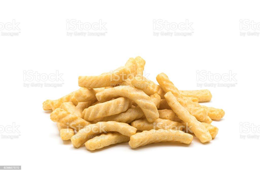 Pile of prawn cracker stock photo