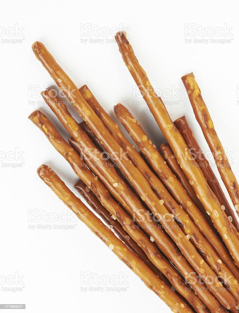 pile of pretzel sticks stock photo