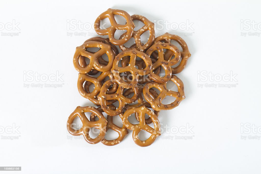 Pile of Pretzels Above stock photo