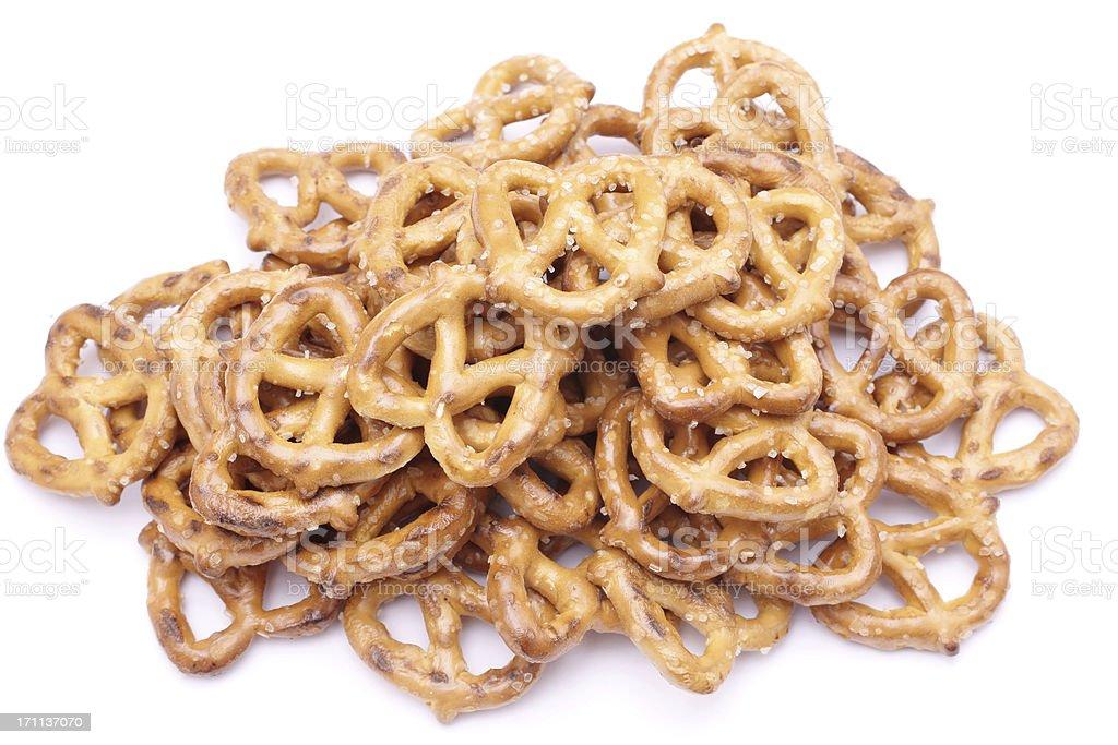 pile of pretzels royalty-free stock photo