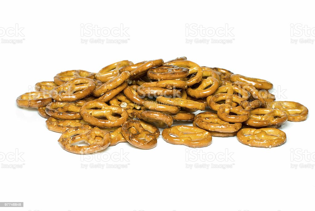 Pilha de pretzels foto de stock royalty-free