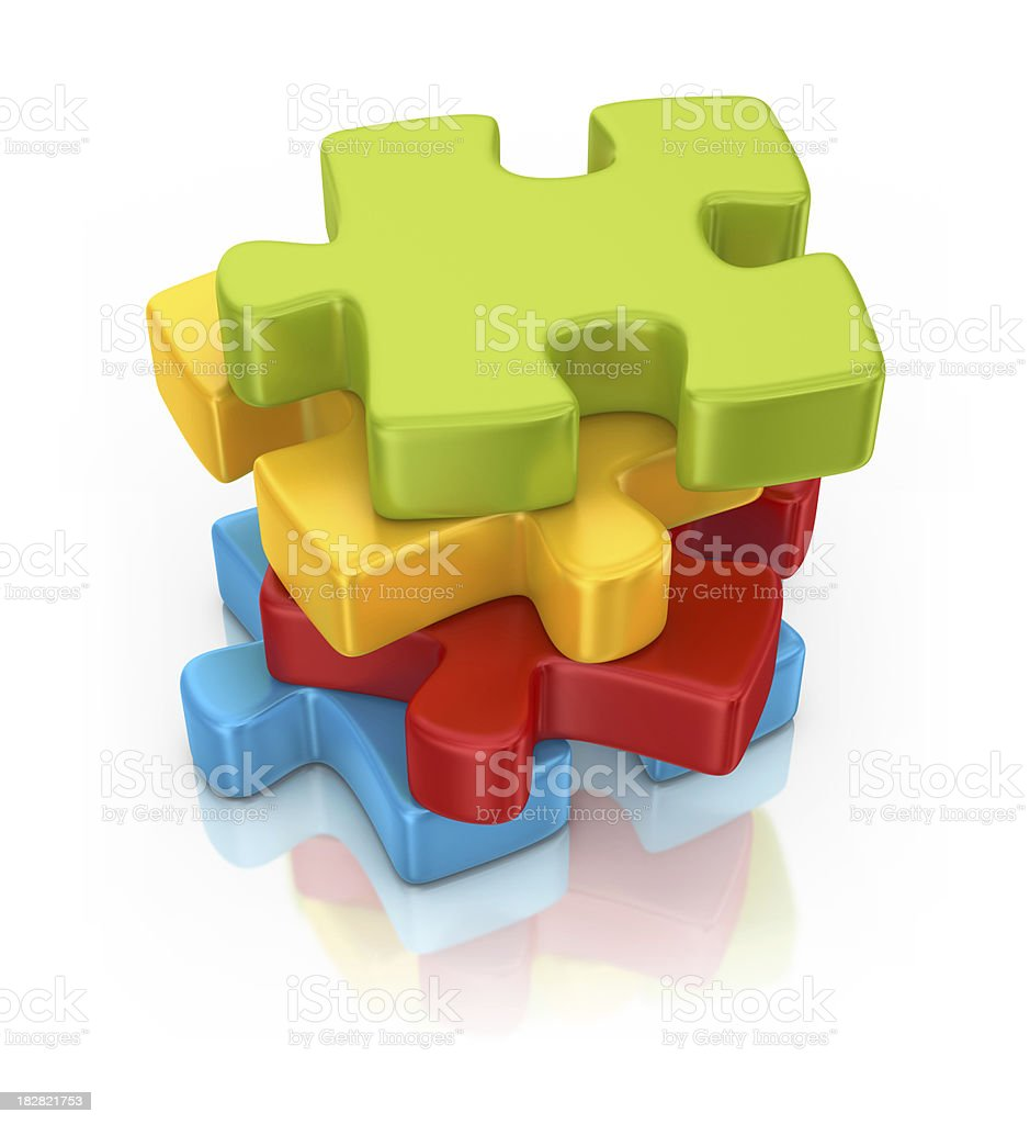 pile of puzzles royalty-free stock photo