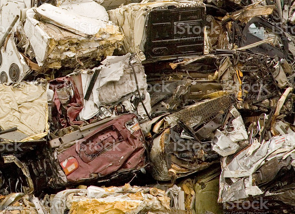 Pile of Recycled Metal royalty-free stock photo