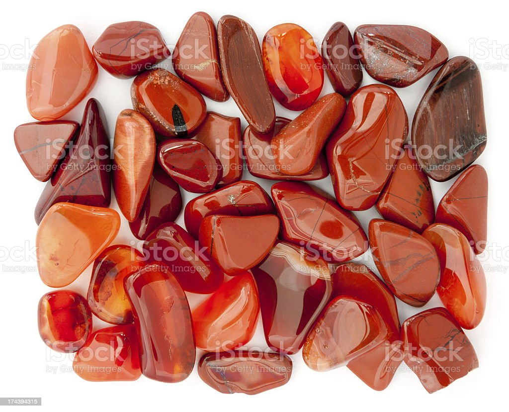 Pile of Red Pebbles royalty-free stock photo