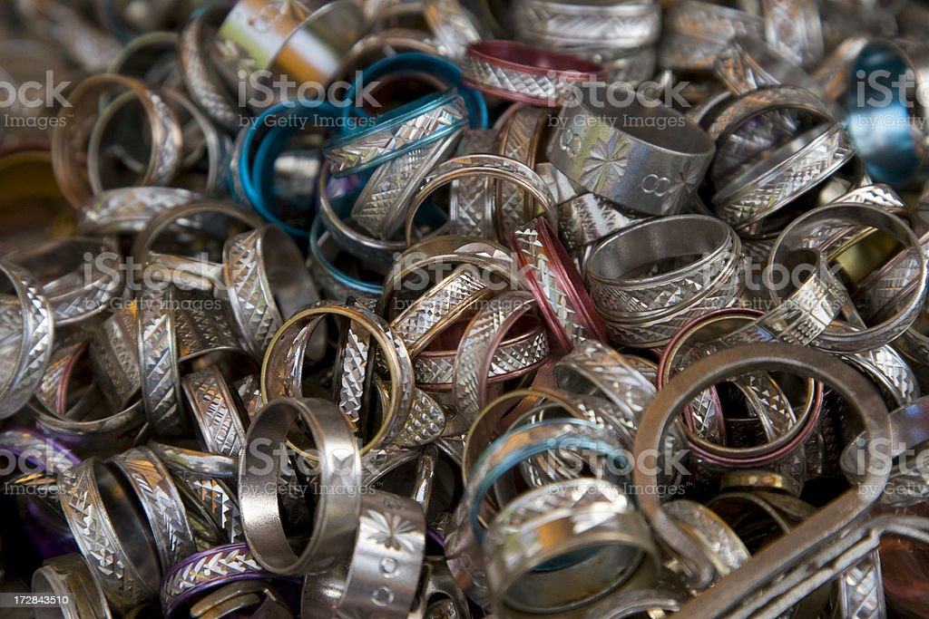 Pile of rings stock photo