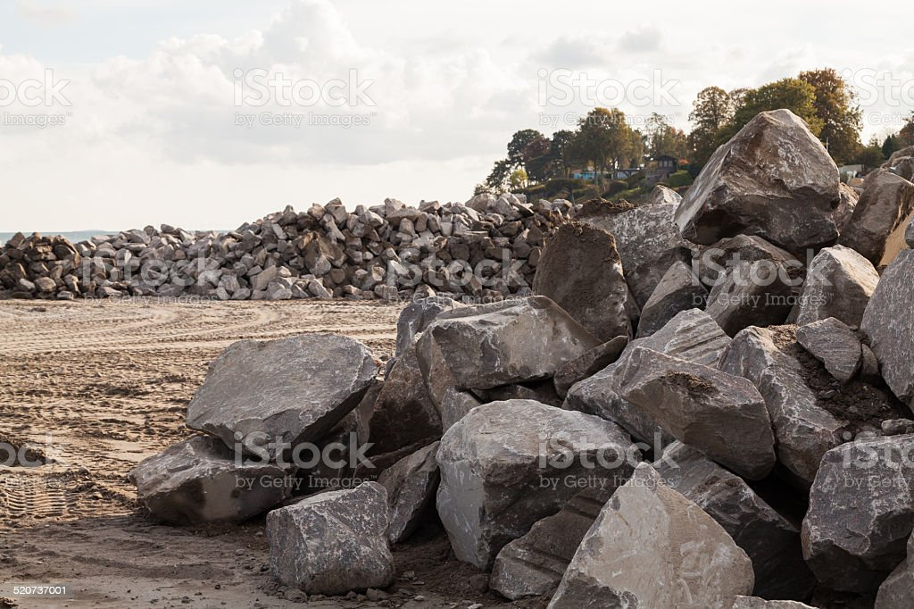 Pile of Rocks Boulders for Construction stock photo
