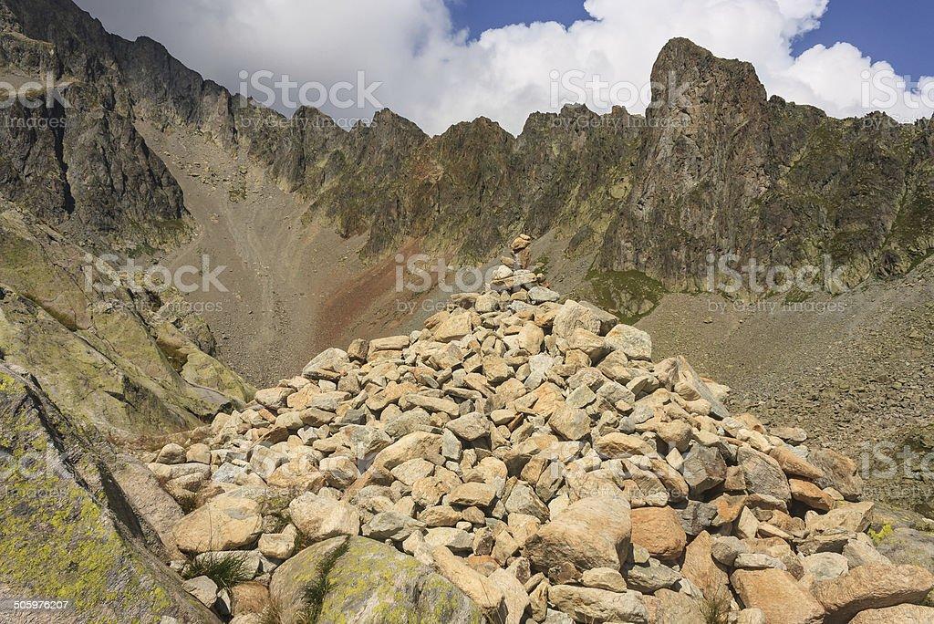 pile of rocks in Haute-Savoie Alps royalty-free stock photo
