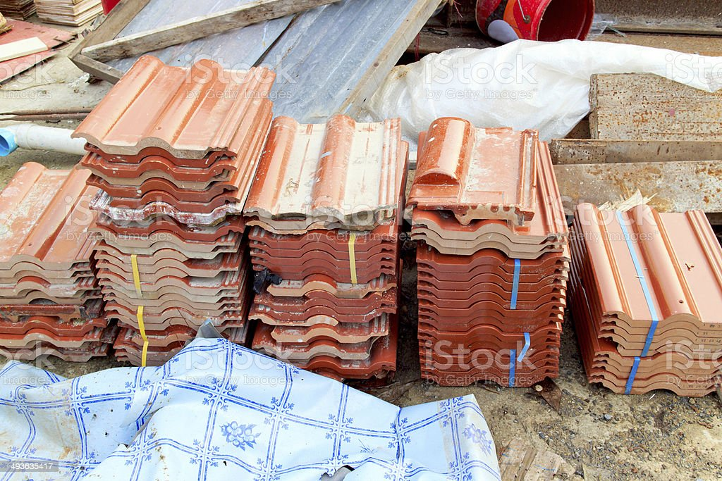 Pile of roof royalty-free stock photo