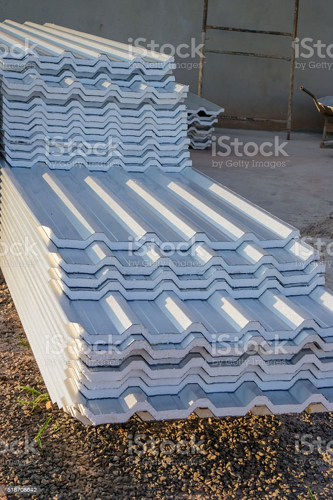 Pile of roof tile stock photo