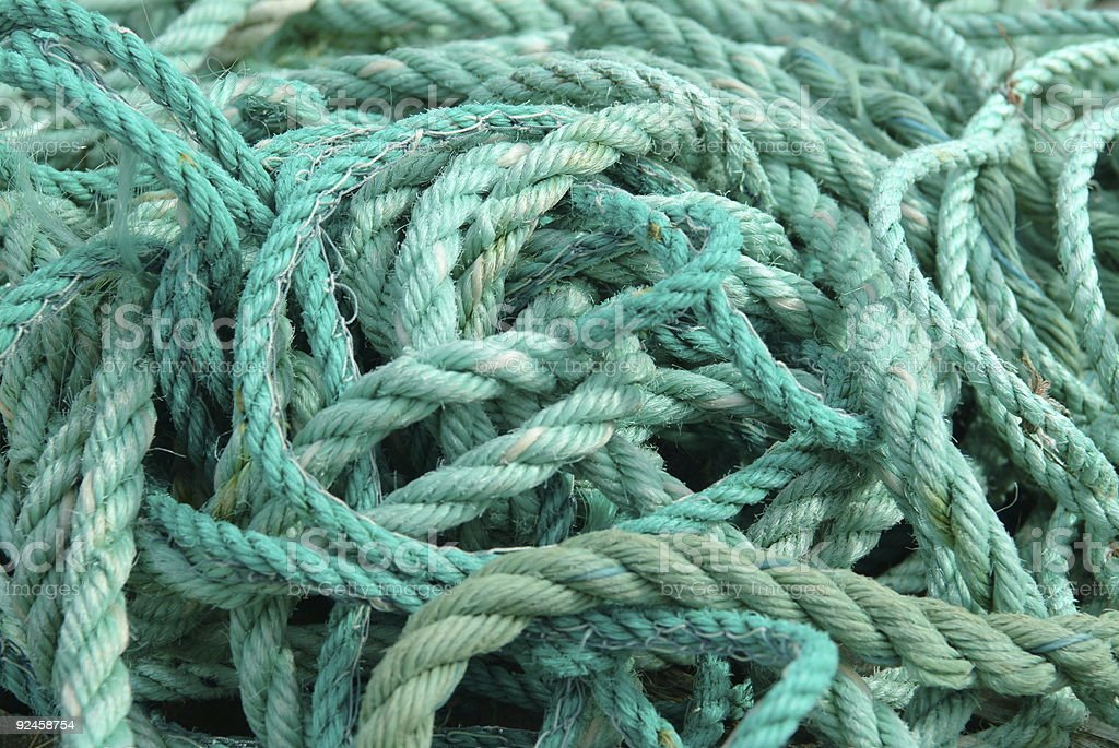 Pile of ropes royalty-free stock photo
