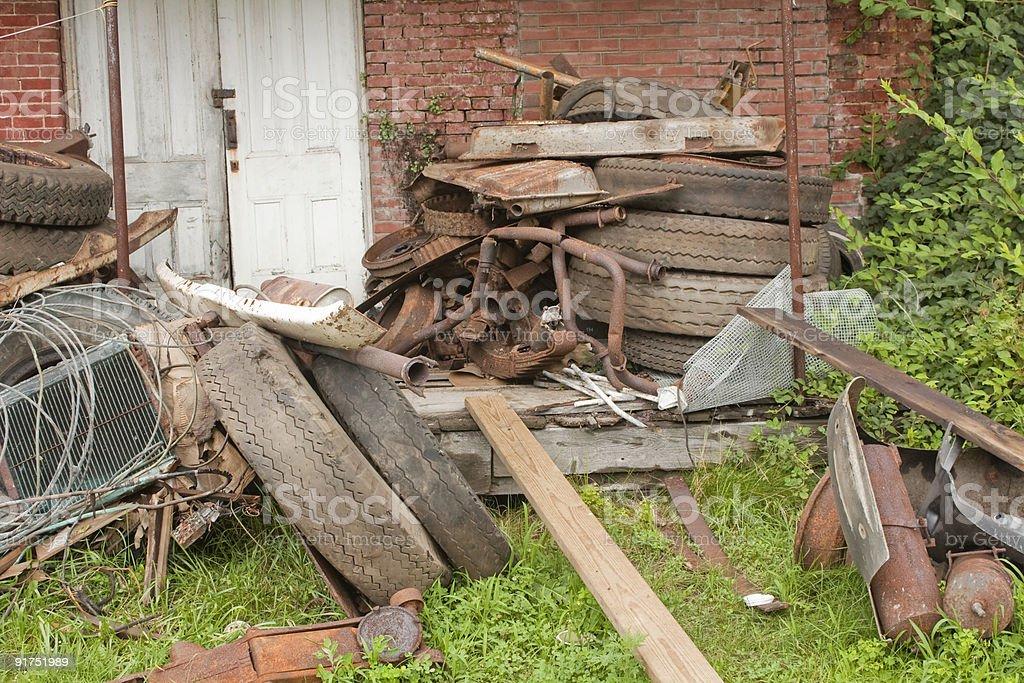 Pile of Rusty Junk stock photo