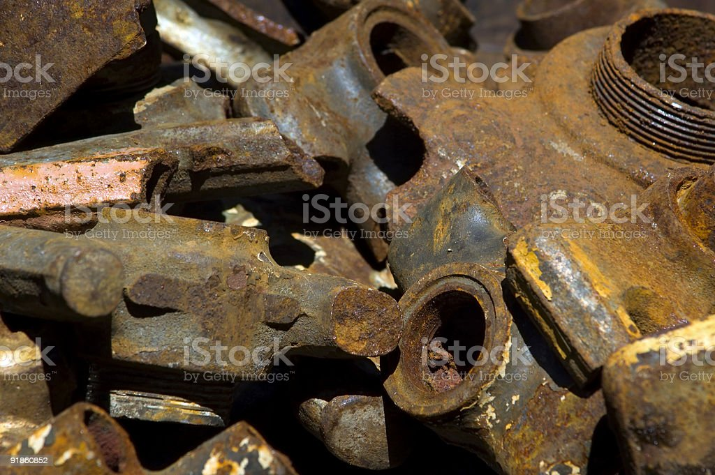 Pile of Rusty Parts royalty-free stock photo