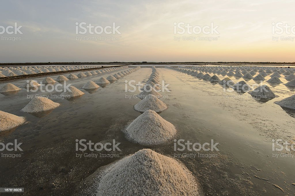 pile of salt in the Thai coast. royalty-free stock photo