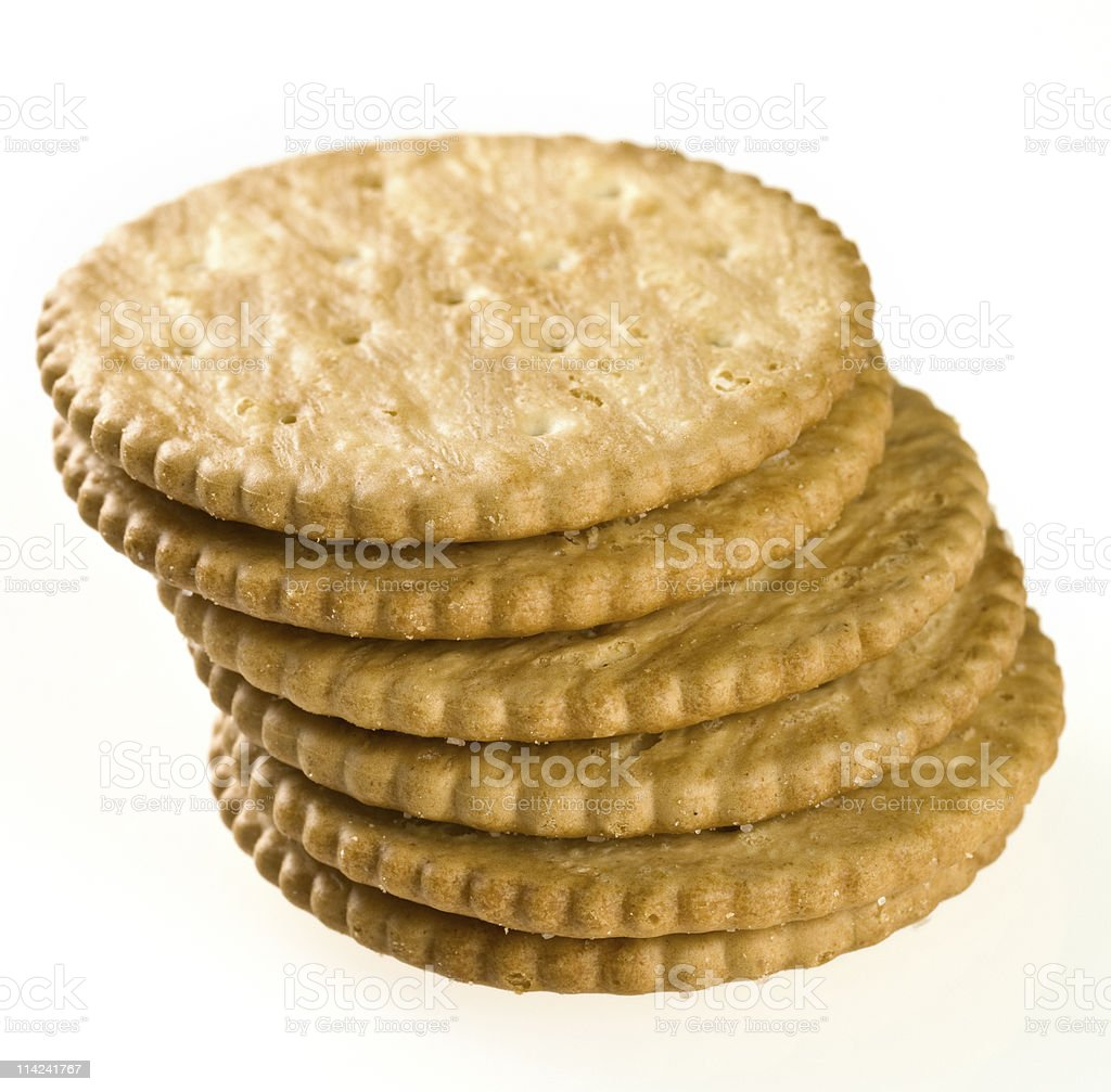 Pile of salted crackers royalty-free stock photo