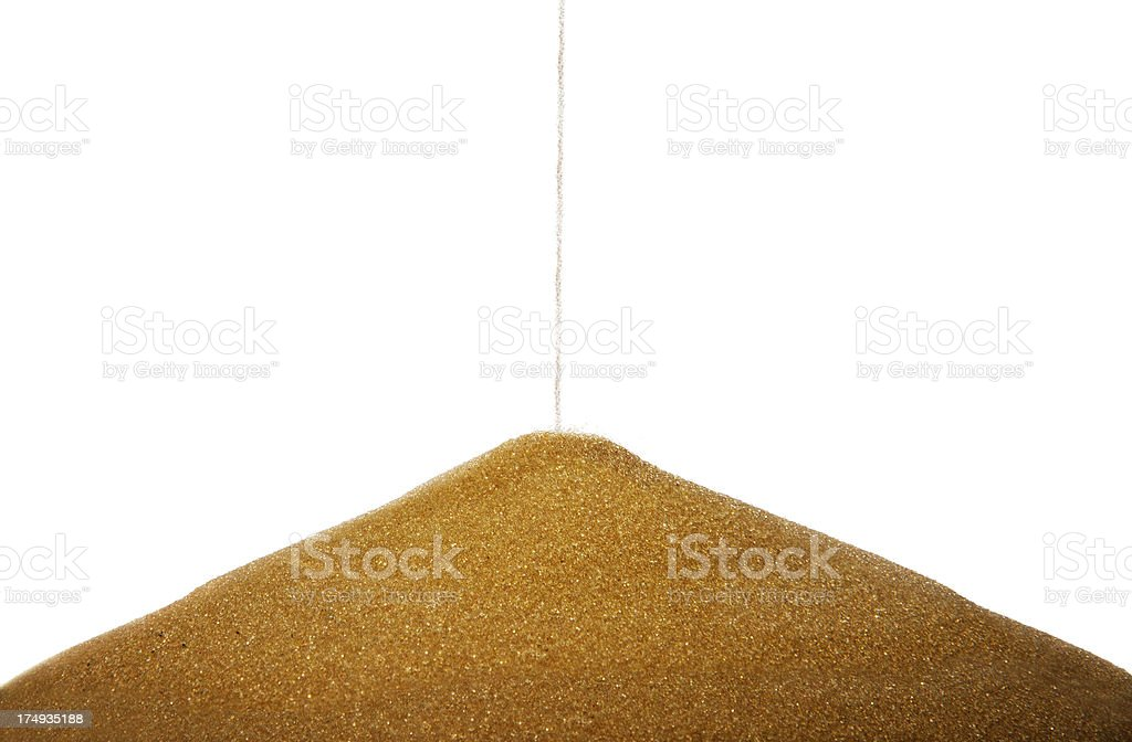 Pile of sand royalty-free stock photo