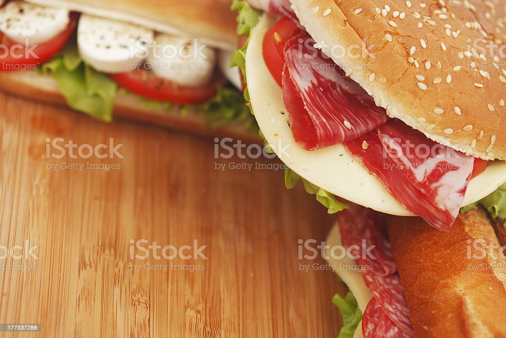 pile of sandwiches close royalty-free stock photo