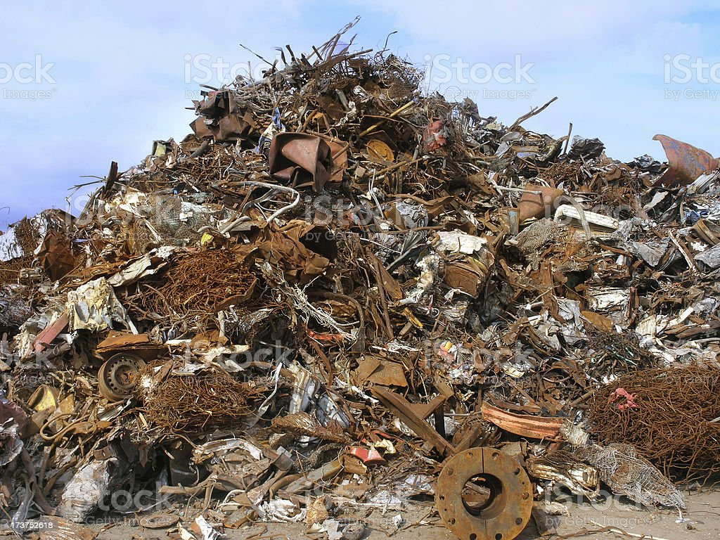 Pile of scrap royalty-free stock photo