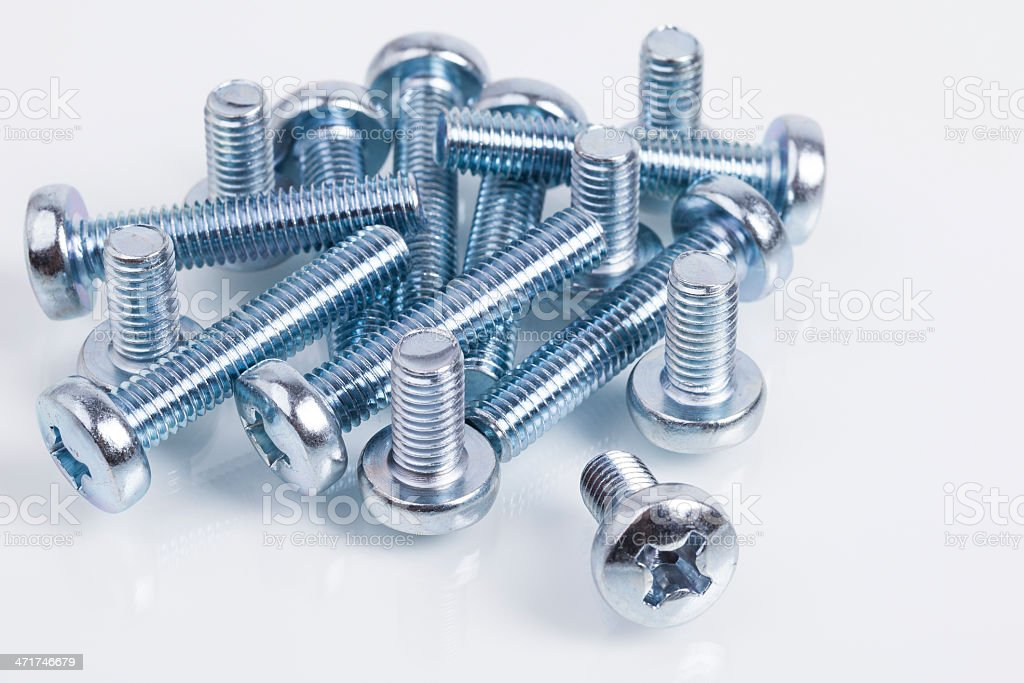 Pile of screws royalty-free stock photo