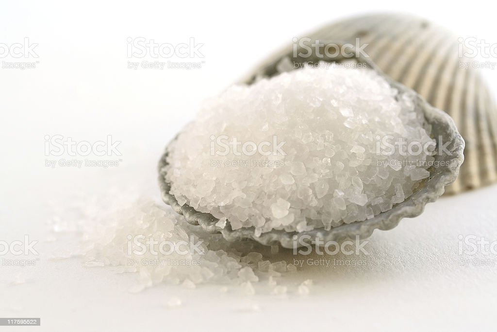 Pile of Sea Salt royalty-free stock photo